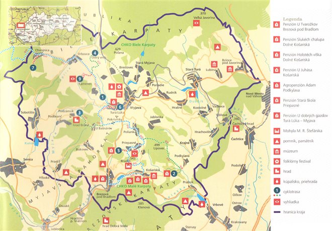 Tourist map of the region
